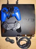 Sony Playstation 3 Slim Console with two controllers