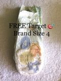 Free Target brand diapers size 4. Picture shows 2 or 3