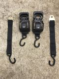 2 Large ratchet tie downs with quick release 12 ft long $25