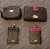 Authentic Coach wallets & ID holders (no strap)