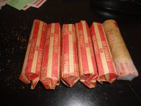 6 rolls (50 cents each roll) lincoln cents 1908 -1945