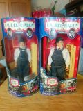 Laurel and Hardy dolls with accessories