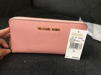 New mk with tag and box pink wallets large
