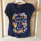 Navy floral T-shirt