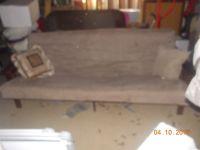 beige futon