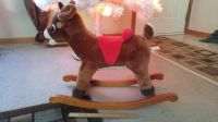Rudolph Reindeer Rocking Horse - Plush & Wood Dan-Dee Song and Lights