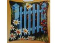 "NEW VERVACO ""GARDEN GATE"" Big Stitch Needlepoint Pillow Kit"