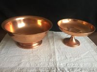 Vintage Copper pedestal dishes (from the 1970 s)