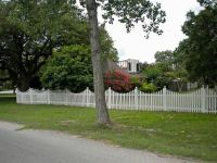 WHITE VICTORIAN  PICKET FENCE panels
