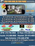 $498, Megapixel security camera system free INSTALL