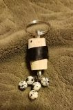 3 INCH HANDMADE CORK KEYCHAIN, EXCELLENT CONDITION, SMOKE FREE HOUSE