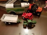 Lot of trailers and tractors