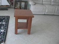 Small solid Oak Vintage Table with a lower shelf