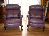 2 Leather Reclining Chairs (150.00 each)