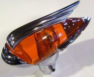 Purchase ANTENNA TOPPER ART DECO AMBER CHROME CUSTOM HOT RAT ROD OLD SCHOOL LOWRIDER BALL motorcycle in Sacramento, California, United States