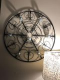 Round metal wall decor 28 and candles