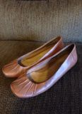 Naturalizer leather shoes slip on ballet flats 10 women