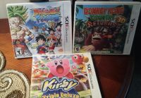 Dragon Ball Fusions, Donkey Kong country Returns, And Kirby Triple Delux 3 D S Games