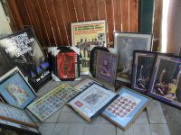 MOVING SALE HUGE 27 FRAMED SPORTS CARDS POSTERS & COLLECTIBLES LOT JORDAN +
