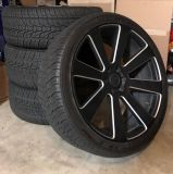 Set of 4-24 DUB rims and tires