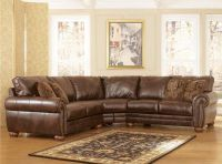 $949, NEW 2 Pc. DuraBlend Antique Sectional Set by Ashley Furniture
