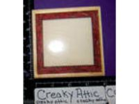 Square Frame Stars Ribbon Rubber Stamp Stampington D6102