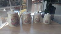 My Mealtime Prayer 8 piece large canister set - 4 canisters with 4 lids