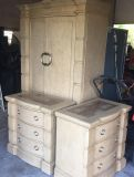 Armoire and bedside tables