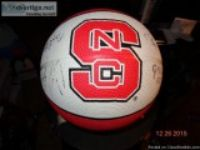 NC STATE SIGNED Basketball