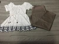 Maternity clothes- Medium top NWT and large taupe pants NWOT