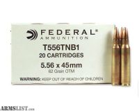 For Sale: 1,000 rounds of Federal 5.56mm SOST rounds