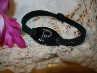 Black Stretch Bracelet with Blingy P Initial