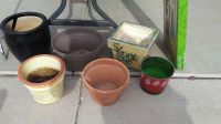 Flower pots $0.50 and $1 for ceramic