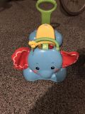 Fisher Price push and ride on elephant