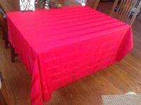 """52""""x70"""" Red rectangle tablecloth *Porch Pickup*"""