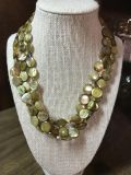 Hand beaded multi strand necklace