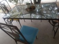 southwest glass and iron table