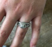 Engagement Ring and Wedding Ring Set, Size 7