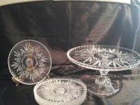 Crystal Cake Stand & Plates