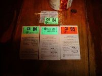 Vintage-HISTORICAL DOCUMENTS-Vin Tags,License Stickers