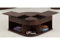 """Dark Oak"" Double Lift Top Coffee Table"