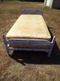Bed*Complete*Twin Bed*Distressed*Mattress,Box Springs