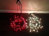 Red and White Christmas lights
