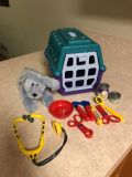 Vet care play set w/Cosmo the dog