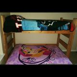 Wood Bunk Bed / Loft Bed with Twin Size Mattress