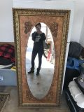 Extremely large 62.5 by 29.5 Antique big mirror.
