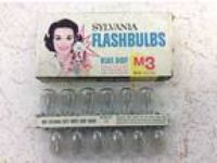 (12) Sylvania M3 USA Photoflash Clear Unfired Flash Bulbs -