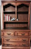 solid oak dresser with hutch
