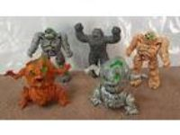 1986 Hasbro INHUMANOIDS figures (5 different) Granites