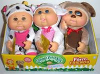 New! Cabbage Patch Kids Cuties Farm Friends Cow Sheep Puppy Baby Doll